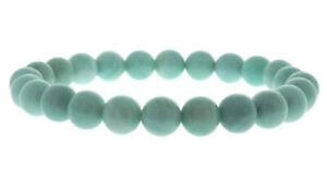 Amazonite Round Bead Stretch Bracelet - 8mm