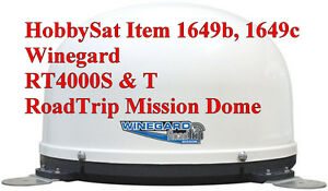Winegard RT4000S & T In-Motion RoadTrip Mission Dome Bell DISH