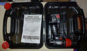Black and Decker Cordless drill with case. As-is