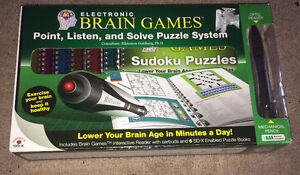 Electronic Brain Games Interactive Reader, Sudoku, Puzzles,Etc..