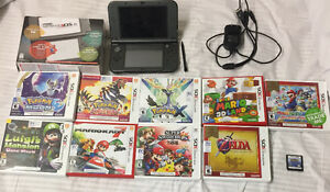 Black 3DS XL with 10 games