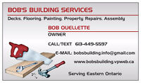 BOB'S BUILDING AND HANDYMAN SERVICES – HAWKESBURY & AREA