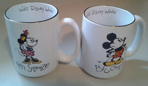 Disney Mickey and Minnie Mouse Big Cheese and Main Squeeze Mugs