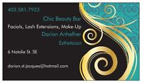 Lash Extensions, Make-Up, Waxing, Facials!