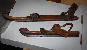 Pair of antique skates (2 different mfg) wood and steel Cambridge Kitchener Area image 1
