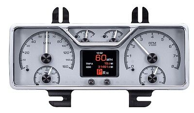 Dakota Digital 40 Ford Coupe Car Analog Gauge System Kit Silver Alloy HDX-40F-S