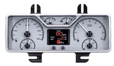 Dakota Digital 40 Ford Car Customizable Analog Gauges Kit Silver Alloy HDX-40F-S