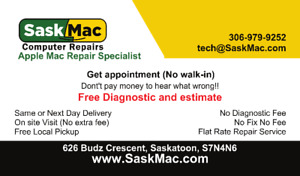 Apple Mac & PC  Repair Specialist- Free Estimate - Free Pickup