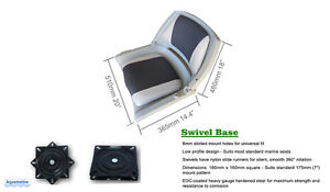 NEW Aquamarine Fold Down Boat Seat with Swivel on Sale