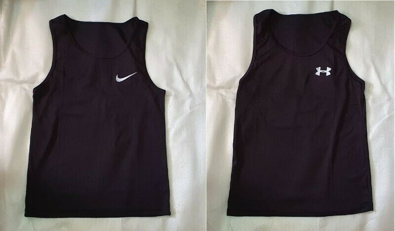 ~~~ BranDeD Men's  PoLYesTeR TanK ToPs Size M OnLy $12  EacH ~~~
