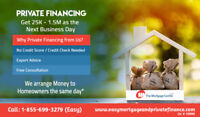 Private Mortgages. Same Day approval Call now: 1-855-699-3279
