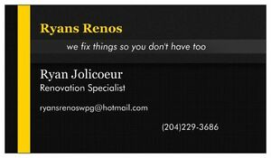 complete home renovations/handyman/woman for hire