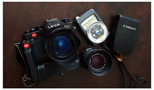 Leica R3 with lens and light meter