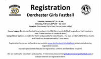 Dorchester Girls Fastball - 2017 Registration