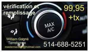 Vérification et Remplissage a/c (air climatisé)