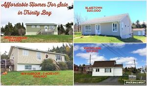 HOMES FOR SALE TRINITY BAY!