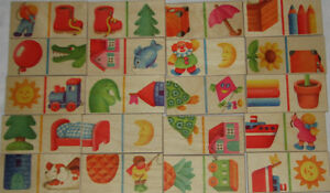 25 Kids Wooden Domino Picture Tiles Puzzle London Ontario image 1