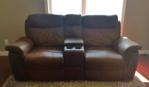 2 Brown Faux Leather Recliners