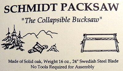 _Schmidt Packsaw (the original) folding buck saw 1 lb. solid red oak camp saw -