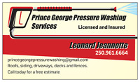 PRINCE GEORGE PRESSURE WASHING SERVICES
