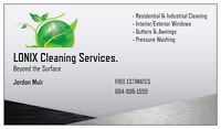 LONIX Cleaning Services. Windows, Gutters/Awnings, Pressure Wash