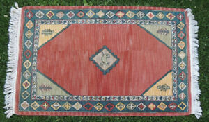Rug, Runner 8ft x 5ft - 100% Wool Fibre - From India.