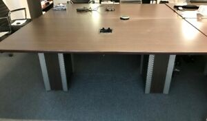 For Sale - Dark Brown Wooden Conference Table with Cable Cubby