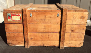 Antique Cunard Cruise Wooden Trunk