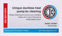 Unique ductless heat pump/ac cleaning