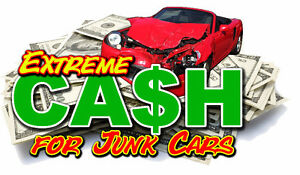 cash $$$ on spot for your scrap car