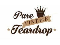 1960 Teardrop caravan for hire , weddings, festivals , events ,parties