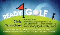 www.READY4GOLF.net. Lowest prices on pre-owned clubs!
