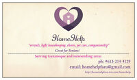 HomeHelp - errands, cleaning, pet care,companionship