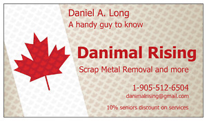 #1 free scrap metal removal. Any and all just make the call.