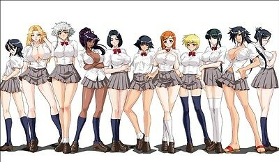 BLEACH GIRLS IN SCHOOL UNIFORMS CUSTOM PLAYMAT YUGIOH MAT GAME MOUSE PAD ANIME