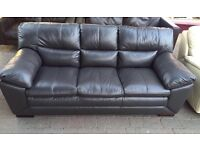 ***NEW EX DISPLAY 3 seater real leather sofa for SALE***