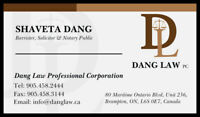REAL ESTATE LAWYER, NOTARY@$15pp, INVITATION LTR, POA,-BRAMPTON