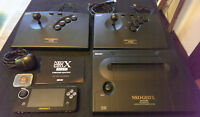 SNK Neo Geo X Gold 2 controllers, lots of games