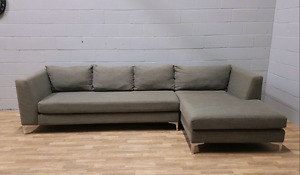 Free Delivery: G. Romano Large Gray Sofa w/ Chaise