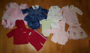 0-3 Mths Baby Girl Clothes (Take 28 Pieces for $30)