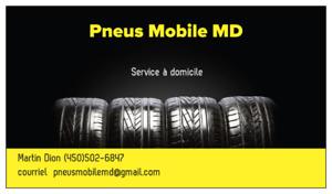 Pose, balancement et réparation de pneus à votre domicile