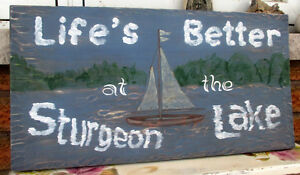 Personalized hand painted wood sign Kawartha Lakes Peterborough Area image 3