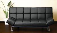 Brand new Black faux leather couch - but no legs :-(