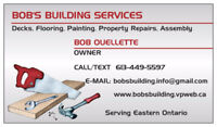 BOB'S BUILDING AND HANDYMAN SERVICES – CORNWALL & AREA