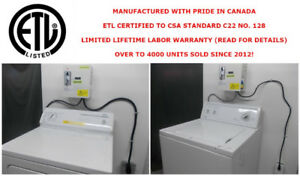 COIN LAUNDRY MACHINE CONVERSION KITS (CERTIFIED TO CSA STANDARD)