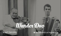 Wander Duo available for weddings, parties, cocktails, and more!