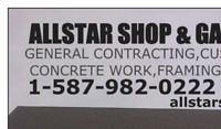 SHOPS & GARAGES, GENERAL CONTRACTING, FRAMING, CONCRETE WORK