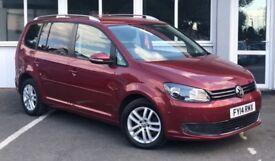 Volkswagen Touran SE TDI BLUEMOTION TECHNOLOGY (red) 2014