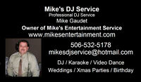 Mike's DJ Service Any Special Events Disc Jockey