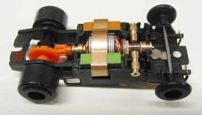 JAG Hobbies TR-3 GT In-line Rolling Slot Car Chassis for Screw-On T-jet Bodies